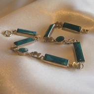 Bracelet chrysocolle 'rectangle'