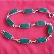 Bracelet Malachite 'rectangulaire'